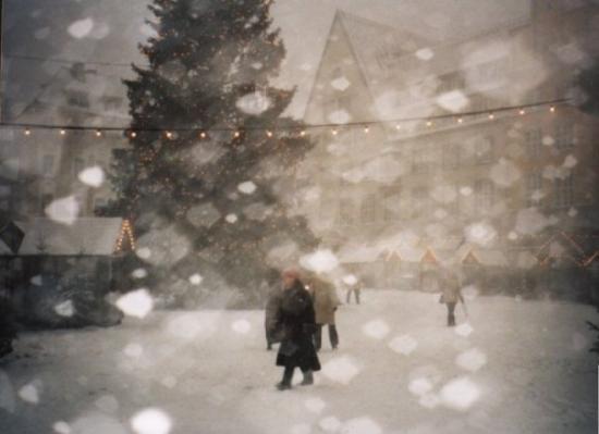 จัตุรัสทาวน์ฮอลล์: The Tallinn Christmas market under snow