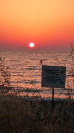 Argaka, Cyprus: Sunset at the local beach