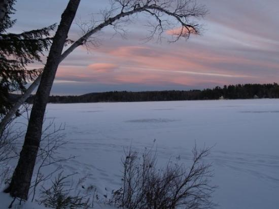 Wilton, ME: Early winter sky over Wilson Lake 07 photo by Susan
