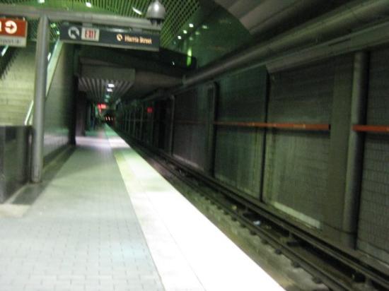A Badly Framed P O Of The Marta Subway Line Below Atlantas Downtown