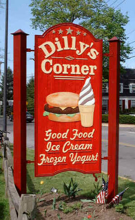 Dilly's Corner: sign outside