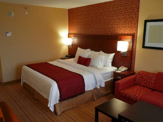 Courtyard Boston Billerica/Bedford : Room 714 Comfortable king bed