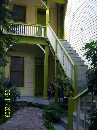 A Yellow Rose Bed and Breakfast: our room below the stairs, Perfect!