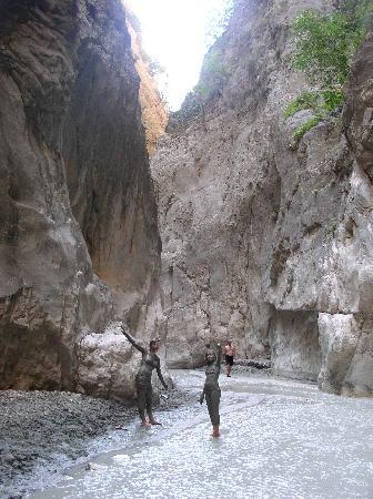 Sarigerme Tours: Saklikent gorge - kid's found better mud baths than in Dalyan!