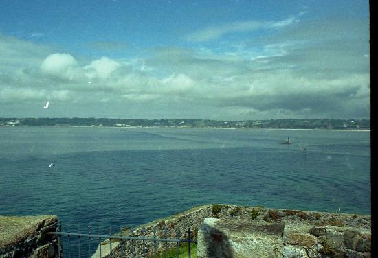 Elizabeth Castle: view back to shore
