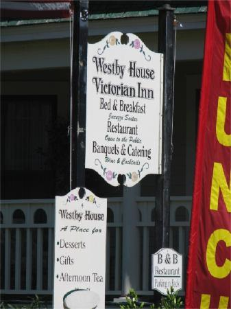 Westby House Inn: The welcome sign