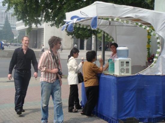 Ice cream stand, Pyongyang, North Korea.