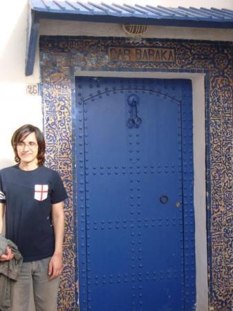 Medina of Rabat : Me standing beside a typical Morrocan door inside Rabat's citadel