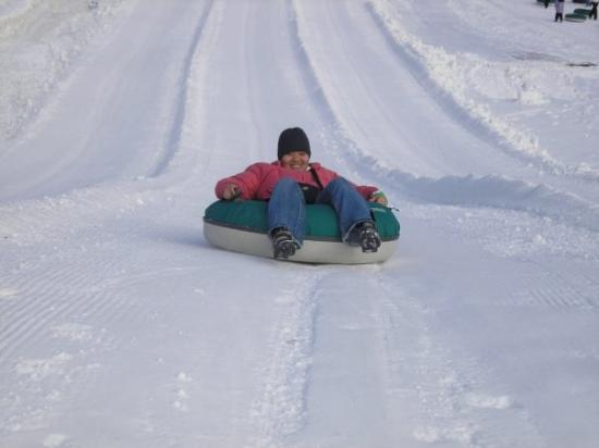 My Turn For A Slide :: SNOW TUBING
