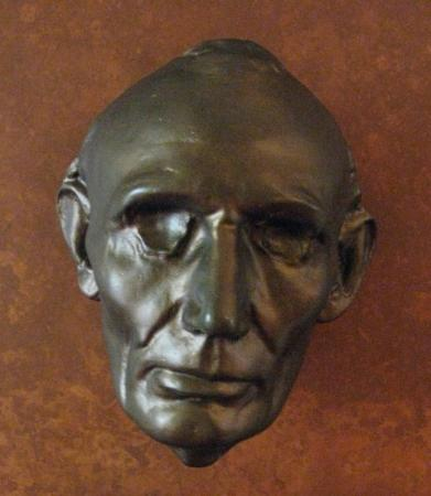 Ford's Theatre: A 'life mask' of President Lincoln when he was first elected. (Ford's Theater)