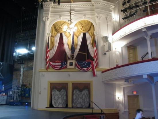 Ford's Theatre: The Presidential Box in Fords Theater where President Lincoln was shot.
