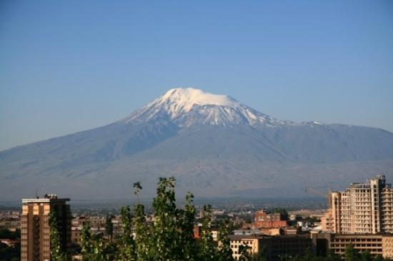 Caucasian Mountains: The view from our flat