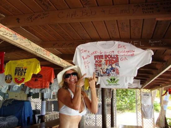 White Bay: Auburn even on Jost Van Dyke- Woo Hoo WAR EAGLE!!