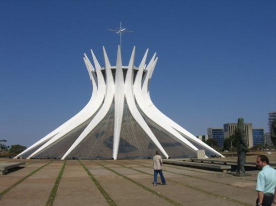 Catedral Metropolitana: The Metropolitan Cathedral of Brasilia by architect Oscar Niemeyer