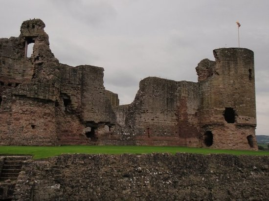 Rhyl, UK : a 12th century castle in Wales built by Edward the 1st in 1277