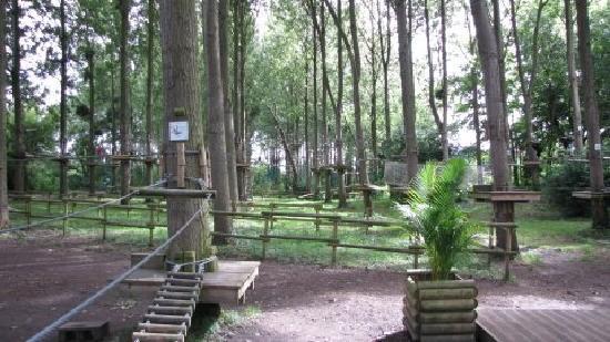 Beauregard aventure : L'entrée du parc et le parcours baby