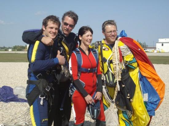 Gimli, Canada: after jumping!