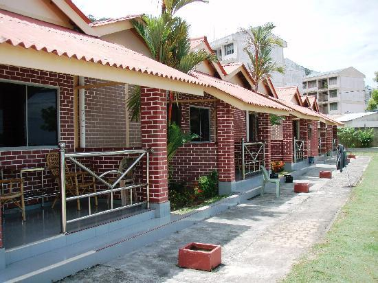 "Sea View Hotel & Holiday Resort: The sea-fronting ""deluxe"" chalets. Other forms of lodging also available to cater to budget."