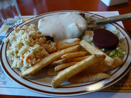 Bryce Canyon Pines: Country Fried Steak was overdone