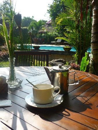 Rumah Mertua: Breaky by the pool. Lovely start to the day