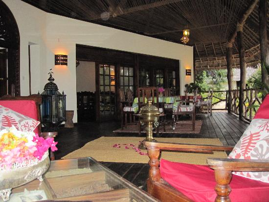 Bwejuu, Tanzanie : Veranda Haupthaus