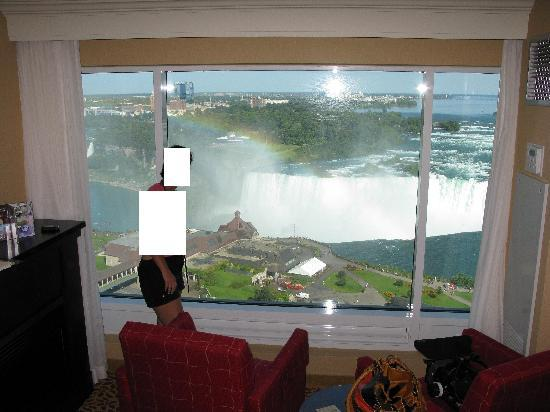 Actual view from our room picture of niagara falls for Pool spa show niagara falls