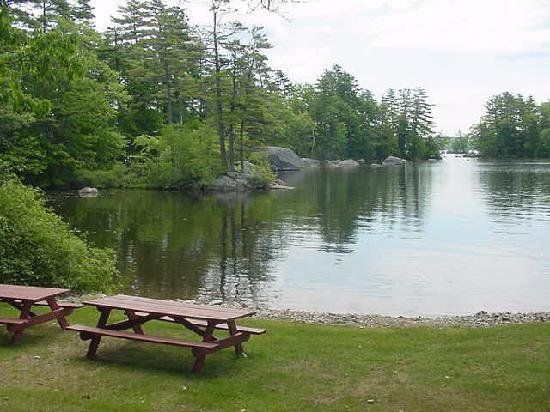 the lakeside is a great spot for a picnic picture of alamoosook