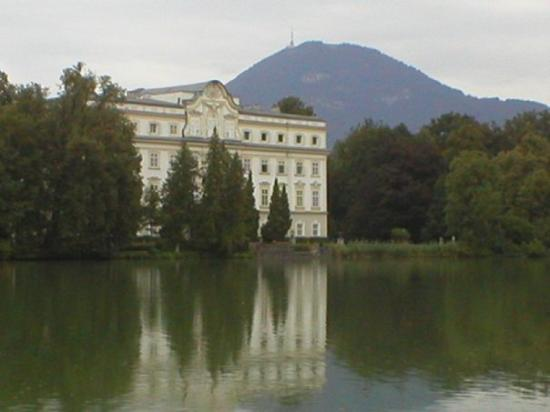 Panorama Tours Original Sound of Music Tour: Salzburg, Austria; back of van trapp family house where maria and kids fell out of the boat.