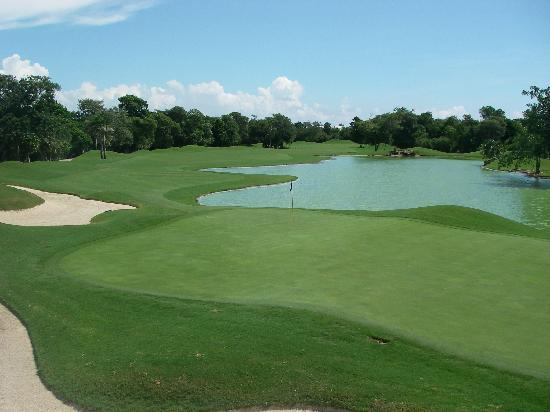 Playacar Golf Club: 2nd Green - Par 5