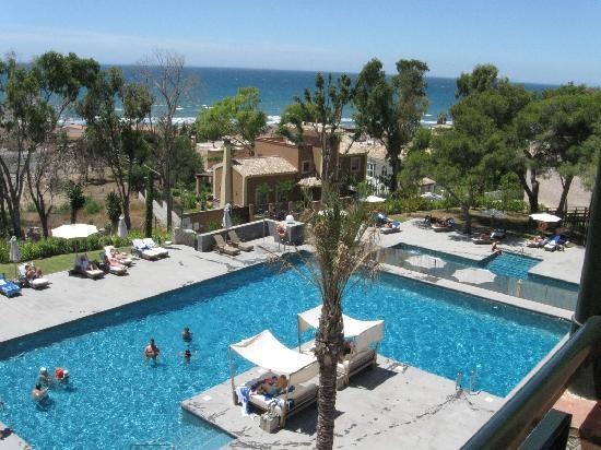 View of Pool and sea from balcony