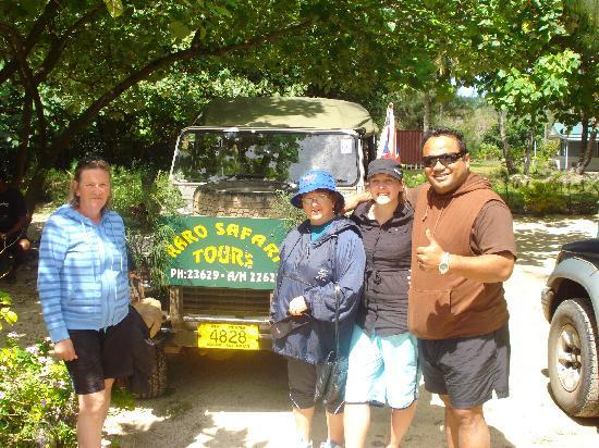 Rarotonga, Cook Islands: At the end of our Tour - With Driver Api