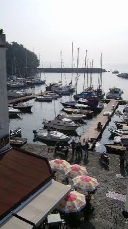 Crescenzo Hotel Ristorante: 室内からマリーナを見下ろす