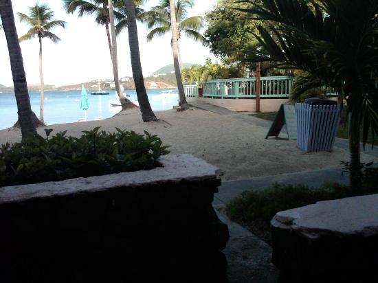 Secret Harbour Beach Resort: Our patio and the view.
