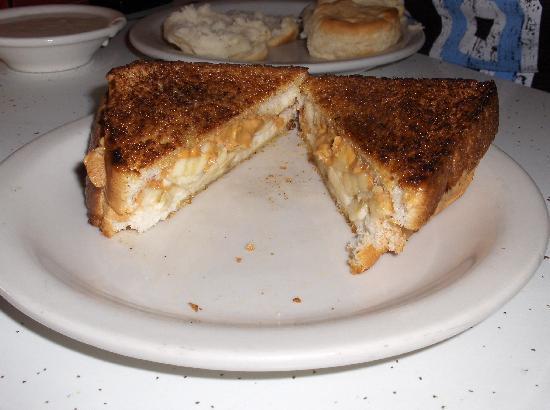Peanut Butter Banana Fried Sandwich Elvis Style Picture Of Arcade Restaurant Memphis Tripadvisor