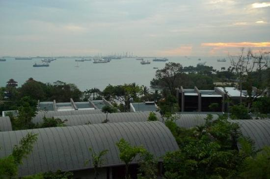 Capella Singapore: view - the curved roofs are standalone villas