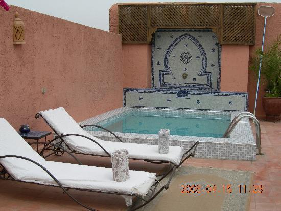 Riad le Clos des Arts : la piscina in terrazza!