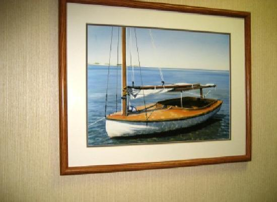 Comfort Inn Syosset by Choice Hotels: Pretty paintings lined hallways