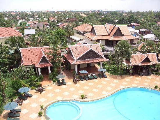 Borei Angkor Resort & Spa : Ausblick von unserem Balkon