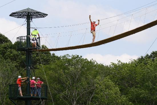Wired Zip Line Challenge: skybridge at WIRED Zip Line