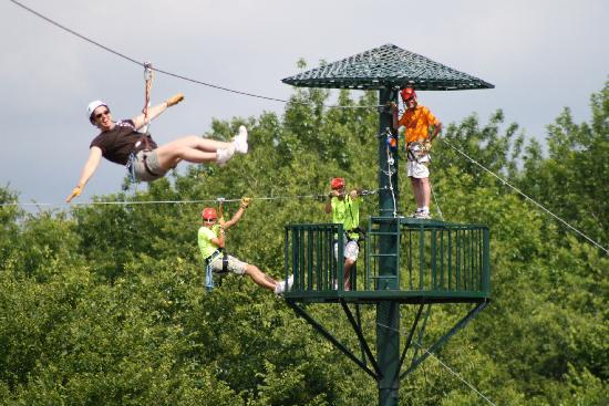 Wired Zip Line Challenge: Zip Liners at WIRED