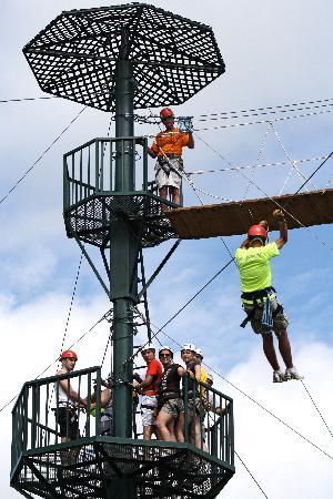 WIRED Zip Line Challenge Course