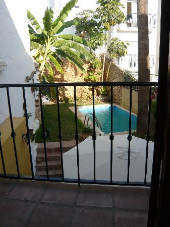 Hostal Lorca: View of the Garden and Pool