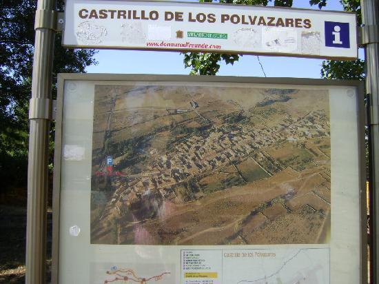 Castrillo de los Polvazares: Cartel explicatico, Castrillo de Polvazares, León