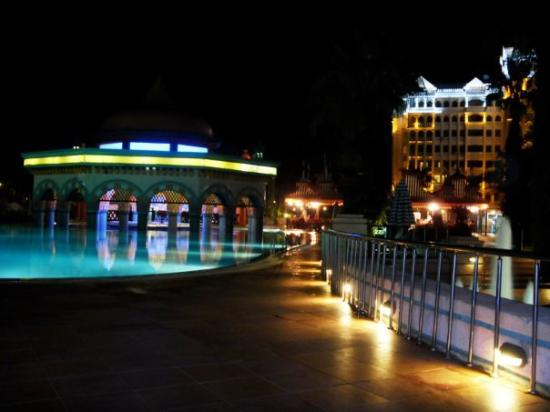 Kamelya Selin Hotel: pool at night