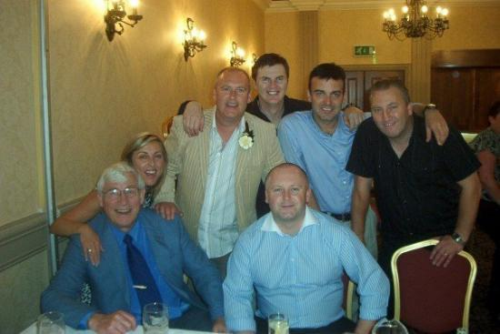 Drogheda, Irland: From left, Uncle Joey, Melissa, Eddie, David, Robbie (seated), Me and Mic