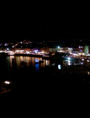 Hersonissos, Greece: The harbour at night