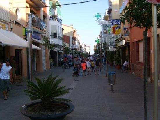 Il centro di Pineda de Mar
