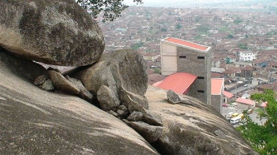 Lagos, Nigeria: another shot of Abeokuta from the top of Olumo Rock