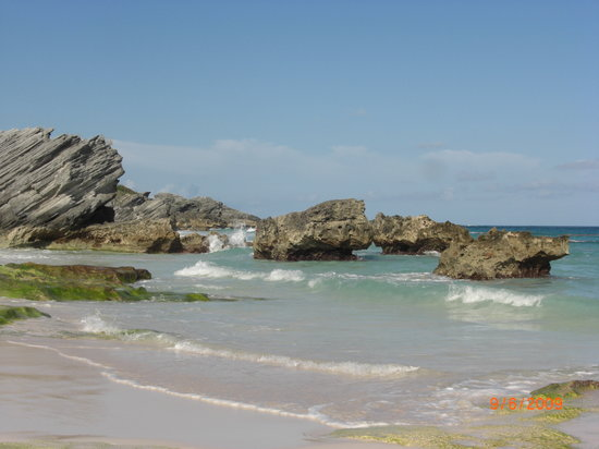 Warwick Parish, Bermuda: View of the most remote beach
