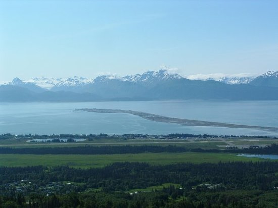 View of the Homer Spit.